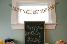 Golden Birthday banner