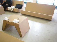 Cardboard furniture at Ars 2010