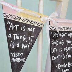 Chalkboard Quote Banner Project by Vanessa Spencer - Stampington