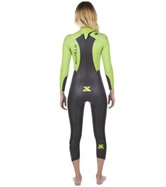 Compete in the fastest and most-flexible wetsuit for the price point. The Xterra Wetsuits Women's Vivid Fullsuit Tri Wetsuit was designed for comfort and speed in the water. Its 1.5mm thick arms provide maximum flexibility and reduce arm fatigue.