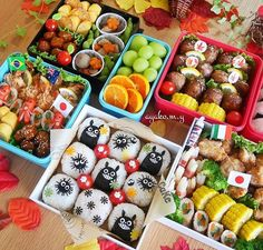 Pin by megum! on Bento/Lunch box/Charaben② Asian Recipes, Real Food Recipes, Food Art For Kids, Bento Recipes, Picnic Foods, Bento Box Lunch, Aesthetic Food, Cute Food, Creative Food