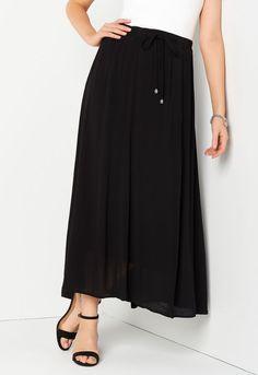 0e522922c Solid Tie Waist Maxi Skirt - CBK Web Store