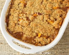 peach crisp - made it today.  high fives all around.
