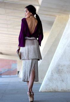 Pin by Esta es mi Moda on Faldas in 2019 Elegant Outfit, Classy Dress, Classy Outfits, Skirt Fashion, Fashion Dresses, Looks Party, Dress Skirt, Dress Up, Cocktail Outfit