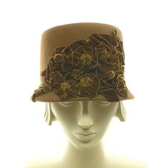 I think I can rock this hat thing!! Felt Cloche Hat for Women  Vintage Style  by TheMillineryShop, $265.00