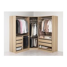 IKEA - PAX, Wardrobe, 196/196x60x201 cm, , 10 year guarantee. Read about the terms in the guarantee brochure.You can easily adapt this ready-made PAX/KOMPLEMENT combination to suit your needs and taste using the PAX planning tool.If you want to organise inside you can complement with interior organisers from the KOMPLEMENT series.Adjustable feet make it possible to compensate any irregularities in the floor.