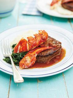 Ricardo& recipe : Surf and Turf Shellfish Recipes, Seafood Recipes, Beef Recipes, Recipies, Surf And Turf, Seafood Scallops, Ricardo Recipe, Beef Filet, Tarts