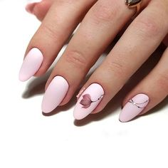 Discover new and inspirational nail art for your short nail designs. Romantic Nails, Elegant Nails, Stylish Nails, Pink Nail Art, Pink Nails, Gel Nails, Acrylic Nails Coffin Short, Cute Acrylic Nails, Lace Nails