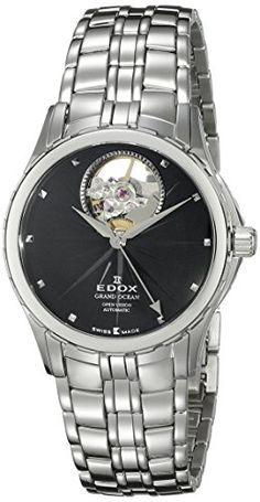 Edox Women's 85013 3 NIN Grand Ocean Analog Display Swiss Automatic Silver Watch -