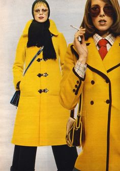 Vintage Fashion fall collections of Yves Saint Laurent, Cardin and Ungaro from 1971 60s And 70s Fashion, Seventies Fashion, Retro Fashion, Vintage Fashion, Patti Hansen, Lauren Hutton, Miss Sixty, Twiggy, Ysl