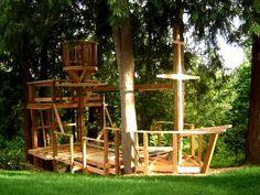 The Backyard Pirate Ship Kids Playhouse Plans, Garden Playhouse, Build A Playhouse, Backyard Fort, Backyard Playground, Backyard For Kids, Playground Ideas, Kids Pirate Ship, Pirate Ships