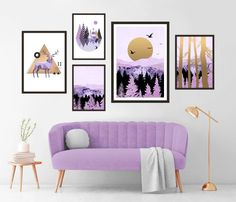 Gallery Wall Set of 5 Scandinavian Abstract Prints, Mid Century Modern Wall Art, Landscape Prints, Minimalist Purple Nursery Printable Art Marble Printable, Printable Art, Modern Wall Art, Mid-century Modern, Landscape Prints, Green Art, Geometric Art, Wall Art Prints, Scandinavian