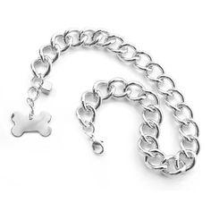 Colar Masculino Prata Os Peludos - MeuAmigoPet.com.br #petshop #cachorro #cão #meuamigopet