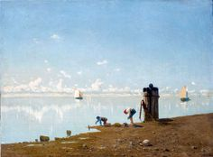 Mattino sulla Laguna GUGLIELMO CIARDI (Venezia, 1842-1917) [vedutismo]