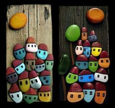 Painted stones, day & night
