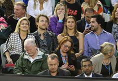 Celebrities at the Australian Open, 2015.