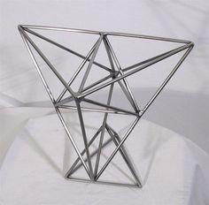 Contemporary modern metal sculpture - stainless steel