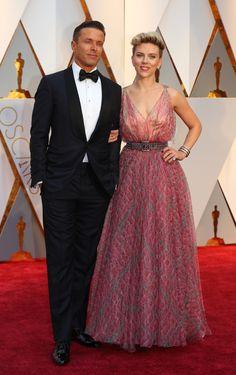 89th Academy Awards - Oscars Red Carpet Arrivals - Hollywood, California, U.S. - 26/02/17 - Actress Scarlett Johansson and Romain Dauriac. REUTERS/Mike Blake via @AOL_Lifestyle Read more: https://www.aol.com/article/entertainment/2017/02/26/vanity-fair-oscars-party-2017-red-carpet-arrivals/21722268/?a_dgi=aolshare_pinterest#slide=4460096