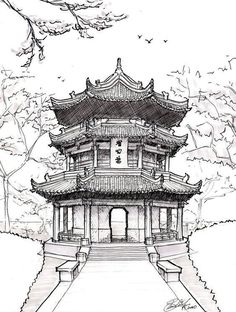 - Loading … Chinese architecture drawing pagoda drawing chinese pagoda by ~ on deviantart - Gothic Architecture Drawing, Architecture Antique, Architecture Drawing Sketchbooks, Ancient Chinese Architecture, Conceptual Architecture, Renaissance Architecture, Architecture Wallpaper, Japanese Architecture, Modern Architecture