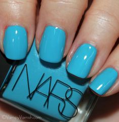 This shade is called Koliary, from the new NARS collection, created by Thakoon.  I MUST have this blue!  But at $18 a bottle I'm going to have to give up buying other polishes for a while!  Pic courtesy of Vampy Varnish.