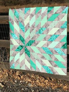My week of sewing has continued. This beauty is Supernova! I need a baby quilt for a coworker and her colors are gray and mint green--sh...