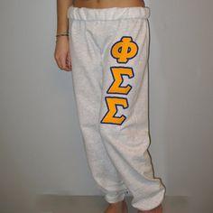 Phi Sigma Sigma Sorority Sweatpants $24.99