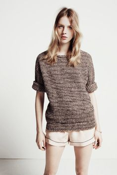 Sweater tee #knit #knitting #yarn