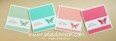 Julie's Stamping Spot -- Stampin' Up! Project Ideas Posted Daily: In Color Butterfly Punch Cards