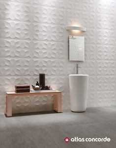3D Wall Design Diamond. Geometrical design relief. | @atlasconcorde | Made in Italy | atlasconcorde.com