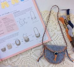 ICYMI: Sew a #recycled sweater #purse, fit for a #doll!  Source - Sew Dolled Up: Make Felt Dolls and Their Fun, Fashionable Wardrobes with Fabric Scraps and Easy Hand Sewing