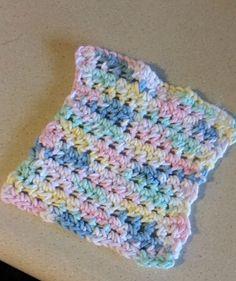 Crochet Dishcloth Cotton Yarn by HandmadeCraftPassion on Etsy