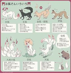 7 Types Of Kitsune Spirits In Japan Japanese Culture, Japanese Art, Japanese Shrine, Fantasy Creatures, Mythical Creatures, Design Reference, Drawing Reference, Animal Drawings, Art Drawings