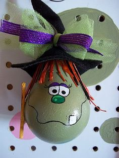 Halloween light bulb ornament Winnie the Witch by BikisBootique, $7.00