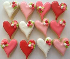 idea for mini valentine cookies Repinned By:#TheCookieCutterCompany