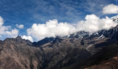 Snow-covered Andes - null
