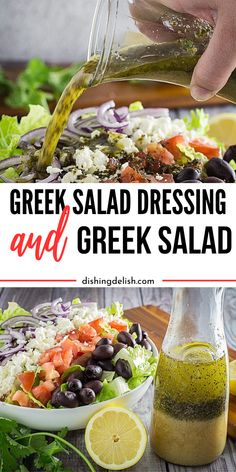 Dec 2019 - Homemade Greek Salad Dressing is a breeze to make, and offers fresh flavors to your salad. I share how to make a Greek salad with homemade Greek dressing recipe! Fresh Salad Recipes, Salad Dressing Recipes, Healthy Recipes, Healthy Food, Thai Recipes, Asian Recipes, Mexican Food Recipes, Greek Salad Dressings, Best Salad Dressing Recipe Ever