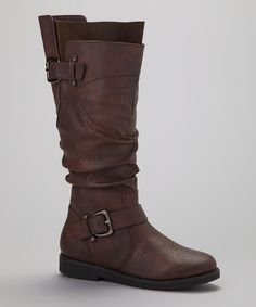 Look at this #zulilyfind! Brown Montana Boot by Beacon Shoe Company #zulilyfinds