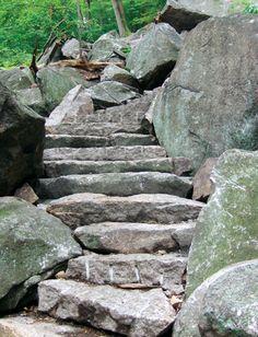 Appalachian Trail steps, Bear Mountain, New York. 800 100-pound granite steps. Legacy-worthy overkill. Very nice.