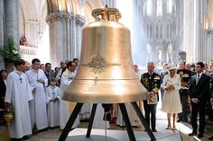The Prince of Wales named a new peace bell in Bayeux Cathedral in honour of Saint Thérèse-Bénedicte