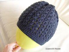 *かぎ針編み*カンタン帽子。 Ravelry, Knitted Hats, Knit Crochet, Crochet Patterns, Knitting, Crafts, Handmade, Knits, Hobbies