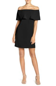 Free shipping and returns on Charles Henry Off the Shoulder Dress (Regular & Petite) at Nordstrom.com. This vivid dress has a trendy off-the-shoulder neckline styled with a flirty ruffle that enhances the crisp, fluttery silhouette.