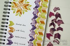 handcarved chevron stamps by stampingmathilda http://www.flickr.com/photos/stampingmathilda/with/6774914335/ #crafts #stamps