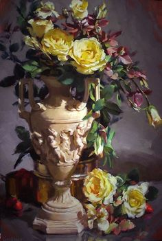 Kurt Anderson, American painter, is best known for his floral still life and figurative paintings.