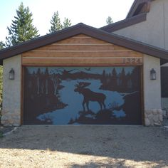 Cool garage door stencil