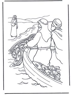 Image result for fishers of men coloring pages  Children