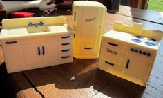 Lot of three Miniature kitchen appliances made and stamped RELIABLE from Canada.