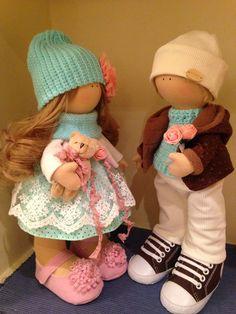"""Купить Интерьерные куклы """"влюблённая парочка"""" - интерьерная кукла, текстильная кукла, подарок, текстильные игрушки"""