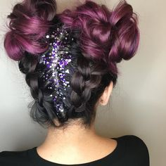 Michelle Stevenson•OC, CA• Mermaid Purple Hair Glitter Roots Salon 1506 Coming Soon...