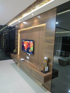 Home Decor: Luxury Apartment Decorating With Modern Designs Bed Furniture Design, Modern Tv Wall Units, Feng Shui Lighting, Tv Unit Decor, Apartment Decor, Luxury Apartment Decor, Wood Bedroom Decor, Luxury Apartments, Wall Unit