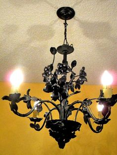 Riddle Polychrome Art Deco Flush Mt Vintage Cast Iron Chandelier Ceiling Fixture Lighting Pinterest Bulbs Ceilings And Lights